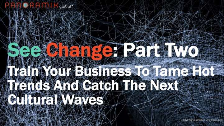 See Change: Train Your Business To Tame 2018's Hottest Trends And Catch the Next Cultural Waves. Part 2